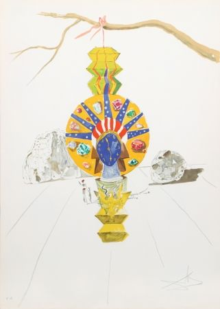 Litografía Dali - American Clock (Timeless Statue) from Time