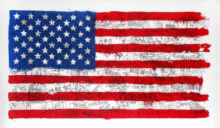 Múltiple Mr Brainwash - American flag