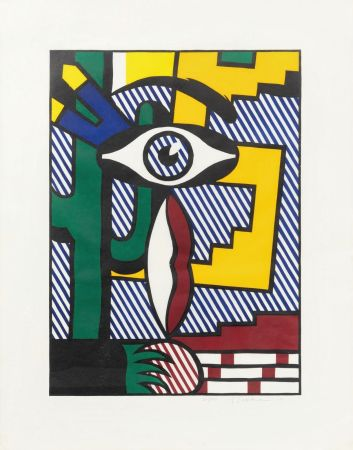 Grabado En Madera Lichtenstein - American Indian Theme III