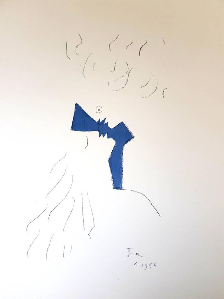 Litografía De Jean Cocteau Amoureux En Amorosart