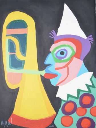 Aguatinta Appel - Amsterdam clown