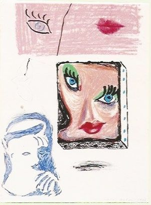 Litografía Hockney - An image of Celia Study