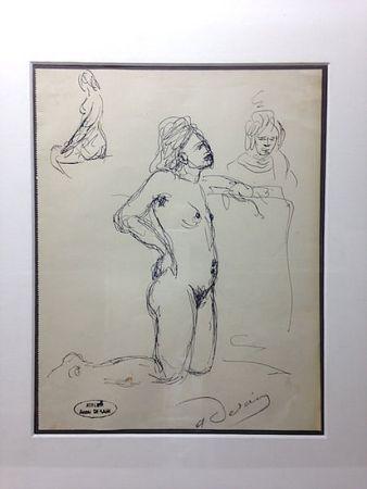 Sin Técnico Derain - André Derain (1880-1954). Etude de nu. Encre sur papier signée.