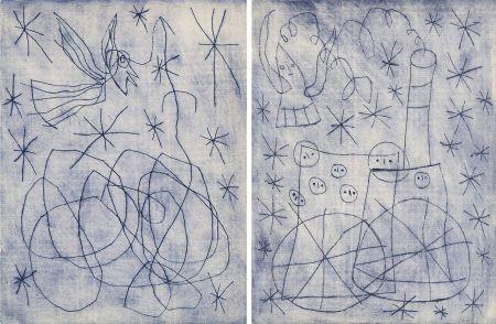 Libro Ilustrado Miró - André Frénaud : NOËL AU CHEMIN DE FER. [ALÈS, PAB, 1959].