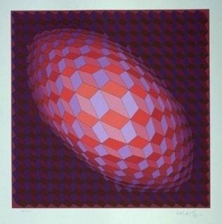 Litografía Vasarely - Andromeda