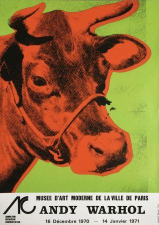 Sin Técnico Warhol - Andy Warhol 'Cow Wallpaper (Green)' 1970 Original Pop Art Poster with COA