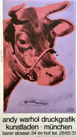 Serigrafía Warhol - Andy Warhol 'Cow Wallpaper (Magenta)' 1983 Hand Signed Original Pop Art Poster