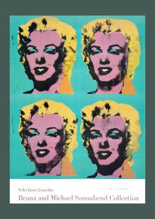 Litografía Warhol - Andy Warhol 'Four Marilyns' 1985 Hand Signed Original Pop Art Poster