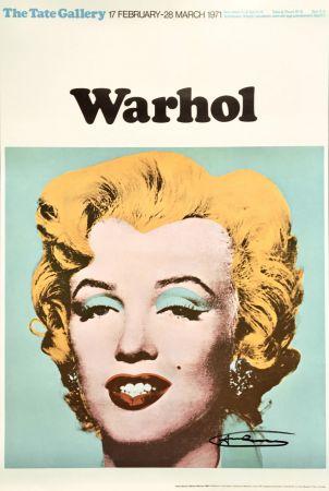 Litografía Warhol - Andy Warhol 'Marilyn (Tate Gallery)' 1971 Hand Signed Original Pop Art Poster