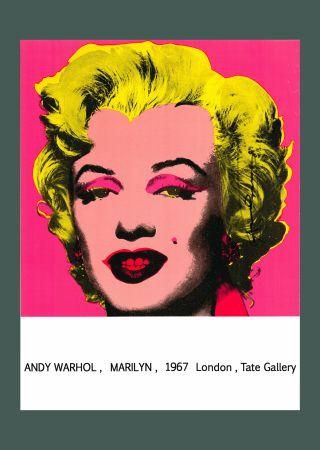 Litografía Warhol - Andy Warhol 'Marilyn (Tate Gallery)' 1987 Hand Signed Original Pop Art Poster with COA