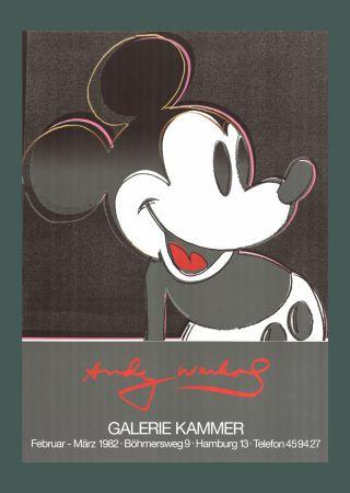Litografía Warhol - Andy Warhol 'Mickey' 1982 Plate Signed Original Pop Art Poster with COA
