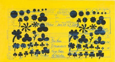Serigrafía Warhol - Andy Warhol Sas Passenger Ticket (Feldman & Schellmann Ii.20)