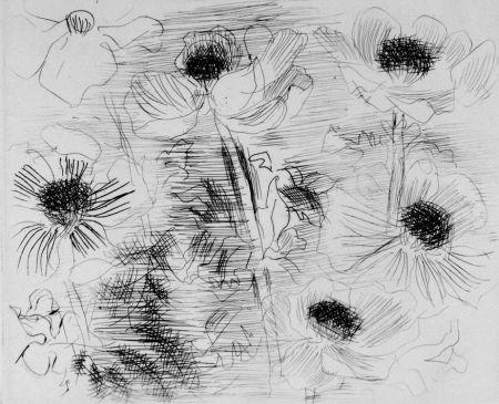 Aguafuerte Dufy - Anemones
