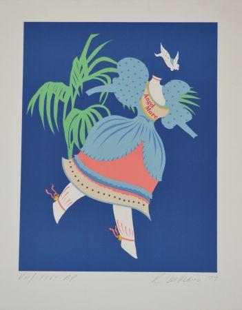 Litografía Indiana - Angel More - Mother of us all portfolio