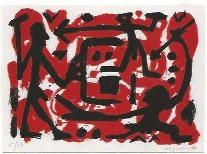 Serigrafía Penck - Angriff und Verteidigung