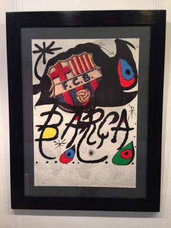 Litografía Miró - Aniversario F.c. Barcelona