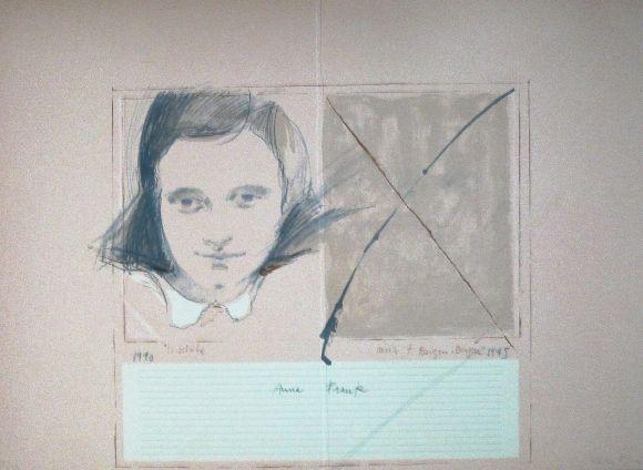 Linograbado Bru - Anne Frank