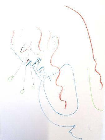 Litografía Cocteau - Antigone