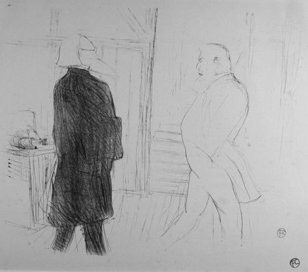 Litografía Toulouse-Lautrec - Antoine et Gémier, dans une Faillite