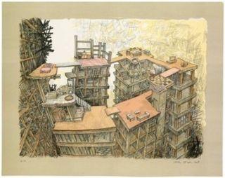 Litografía Oiwa - Apartment