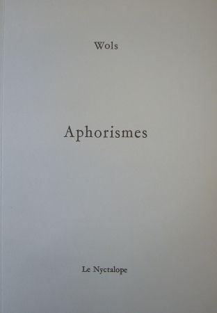 Libro Ilustrado Wols - Aphorismes