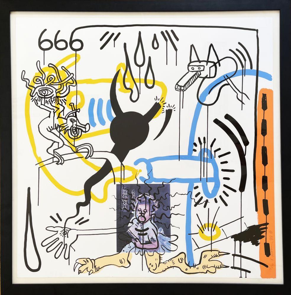 Serigrafía Haring - Apocalypse 8 from the Apocalypse series 1988