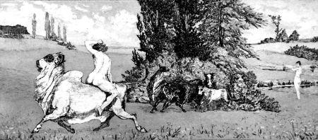 Aguafuerte Y Aguatinta Klinger - Apollo e Dafne III