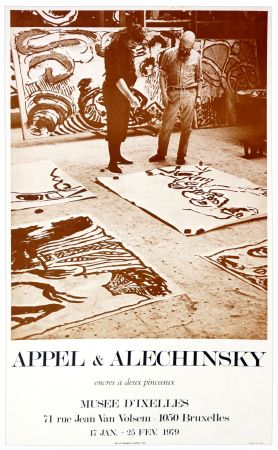 Cartel Alechinsky - Appel & Alechinsky, encres à deux pinceaux, 1979