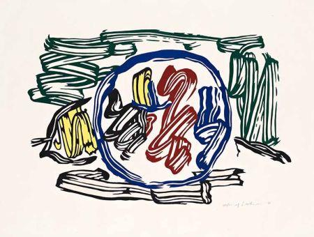 Grabado En Madera Lichtenstein - Apple and Lemon