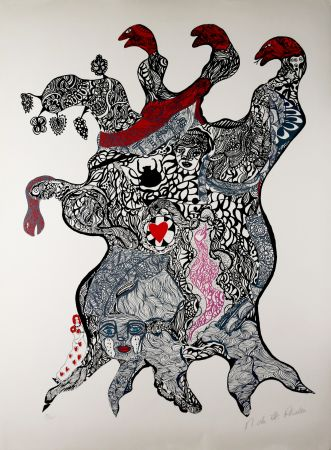 Serigrafía De Saint Phalle - Arbre aux Serpents