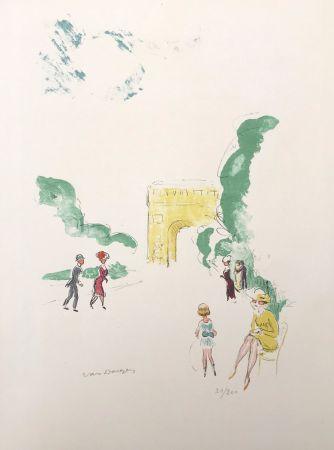 Litografía Van Dongen - Arc de Triomphe