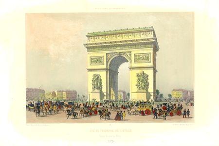Litografía Benoist - Arc de Triomphe de l'Etoile