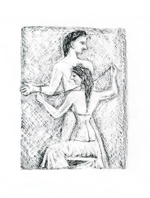Litografía Campigli - Arianna I (Theseus)