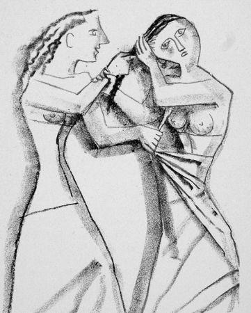 Litografía Campigli - Arianna II