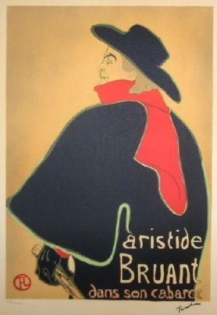 Litografía Toulouse-Lautrec - Aristide Bruant