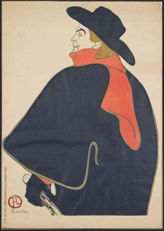 Litografía Toulouse-Lautrec - Aristide Bruant dans son cabaret