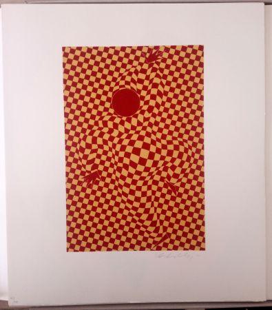 Litografía Vasarely - Arlequin