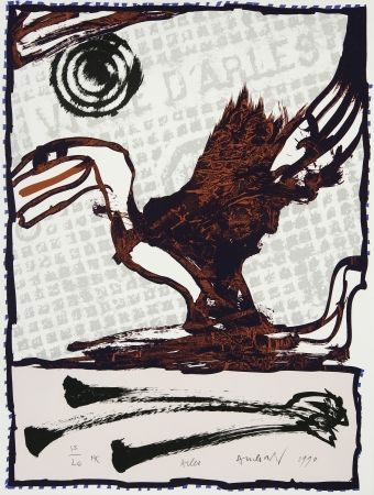 Litografía Alechinsky - Arles