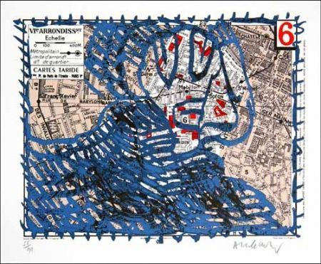 Litografía Alechinsky - Arrondissement de paris n°6