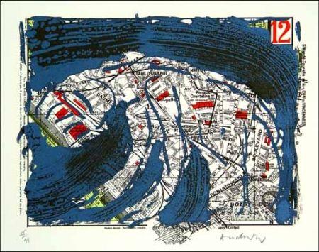 Litografía Alechinsky - Arrondissement de paris n° 12