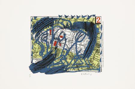 Litografía Alechinsky - Arrondissement N°2