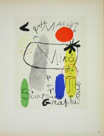Litografía Miró - Art Graphique Galerie Maeght