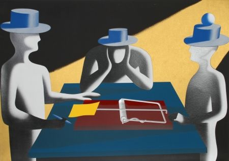 Serigrafía Kostabi - Art of the Deal