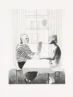 Aguafuerte Hockney -