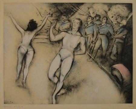 Aguafuerte Vertes - (Artisten im Zirkus)