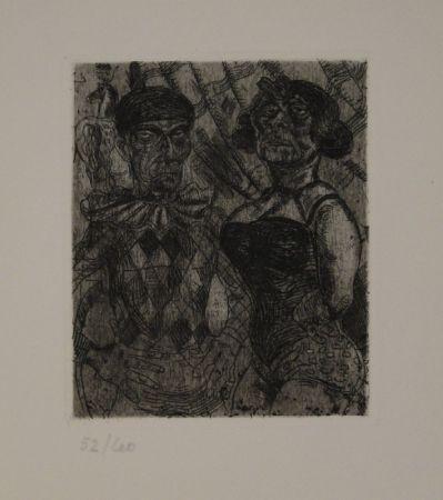 Aguafuerte Schürch - Artistenpaar