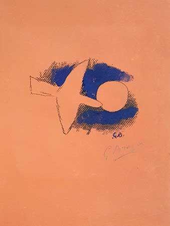 Litografía Braque - Astre Et Oiseau
