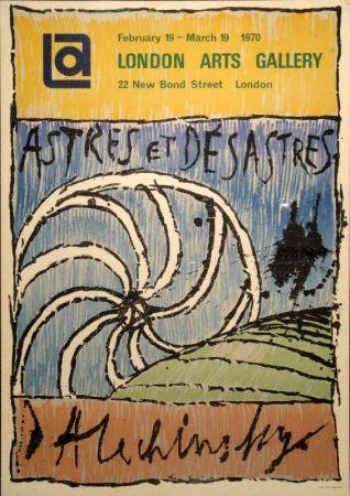 Litografía Alechinsky - Astres et Désastres