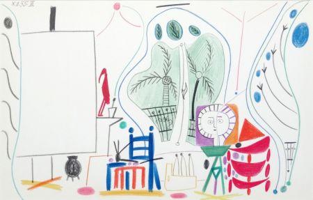 Litografía Picasso - Atelier