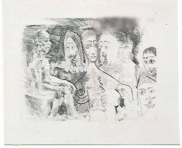 Grabado Picasso - Atelier
